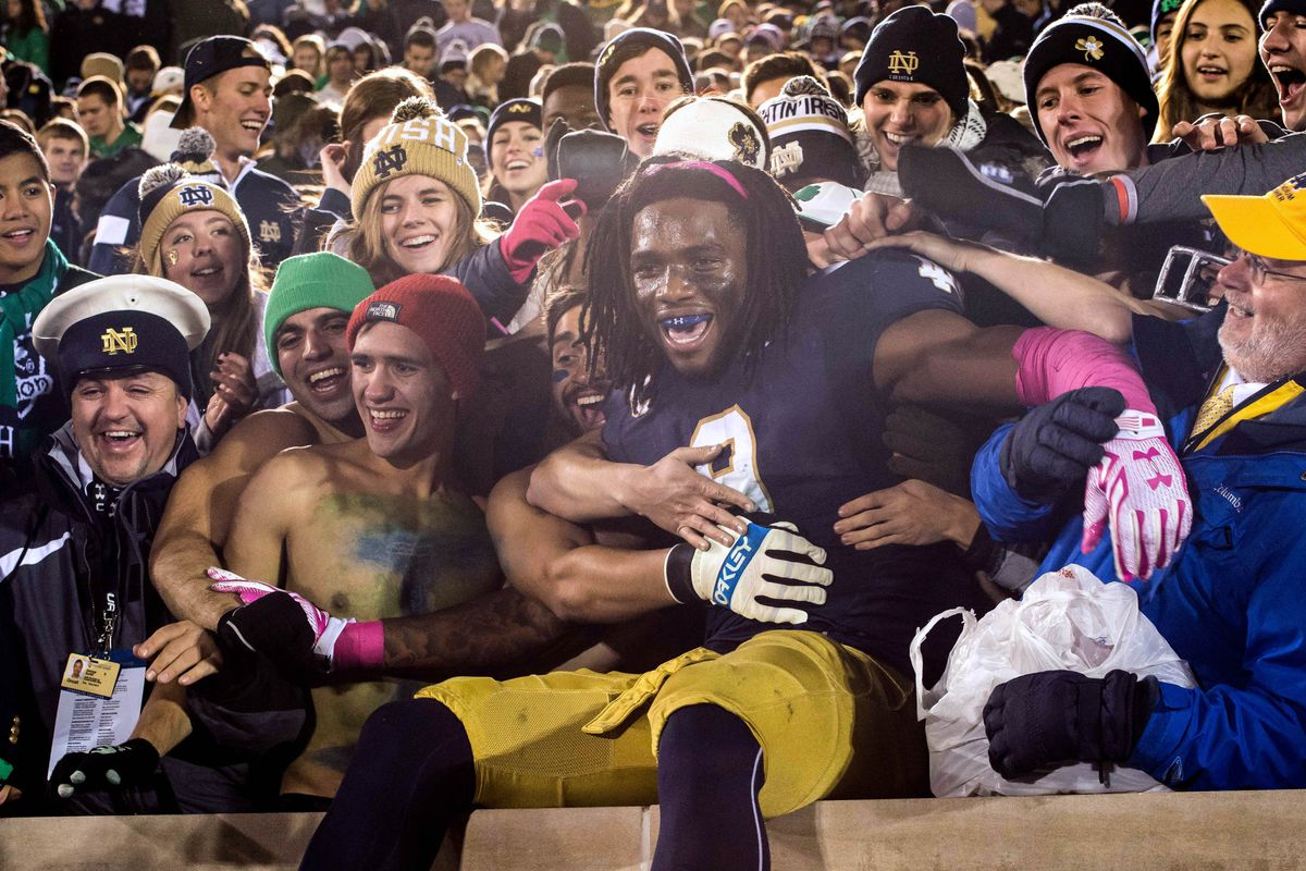 Hey recruits, come to Notre Dame and be like this guy!