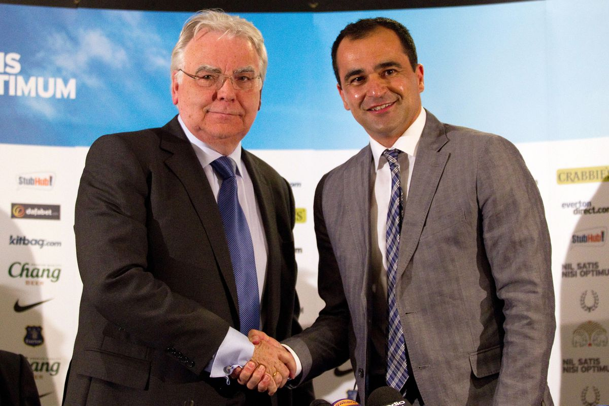 Roberto Martinez New Everton Manager Press Conference and Photo Call