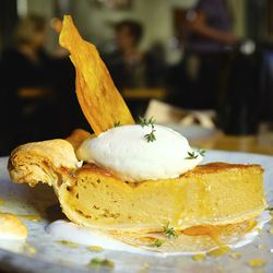 Sweet potato pie at Husk in Charleston