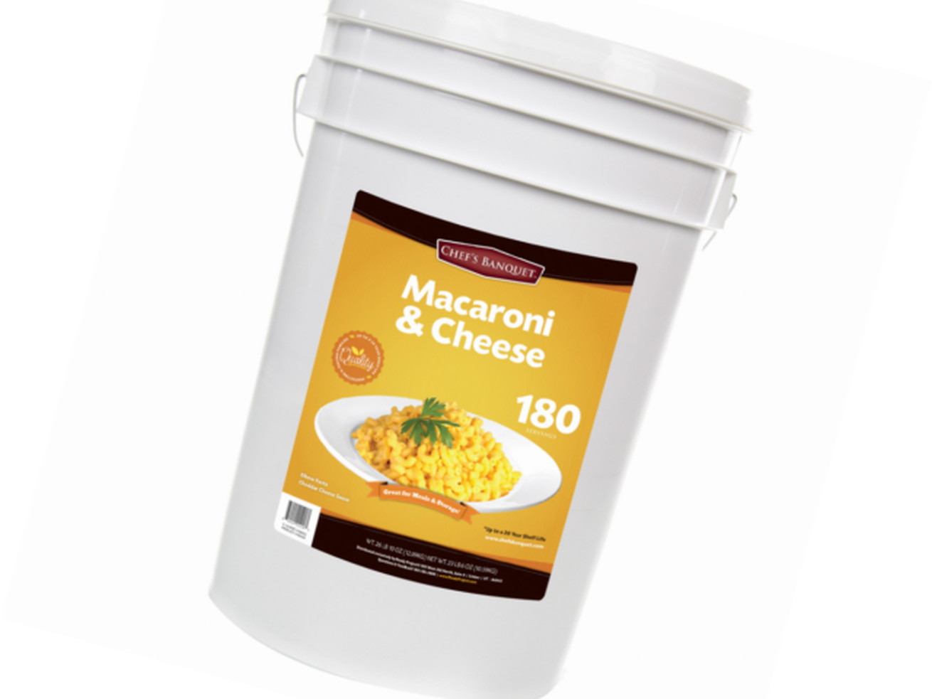 Costco Releases 27lbs Mac And Cheese Bucket For The End Of Days
