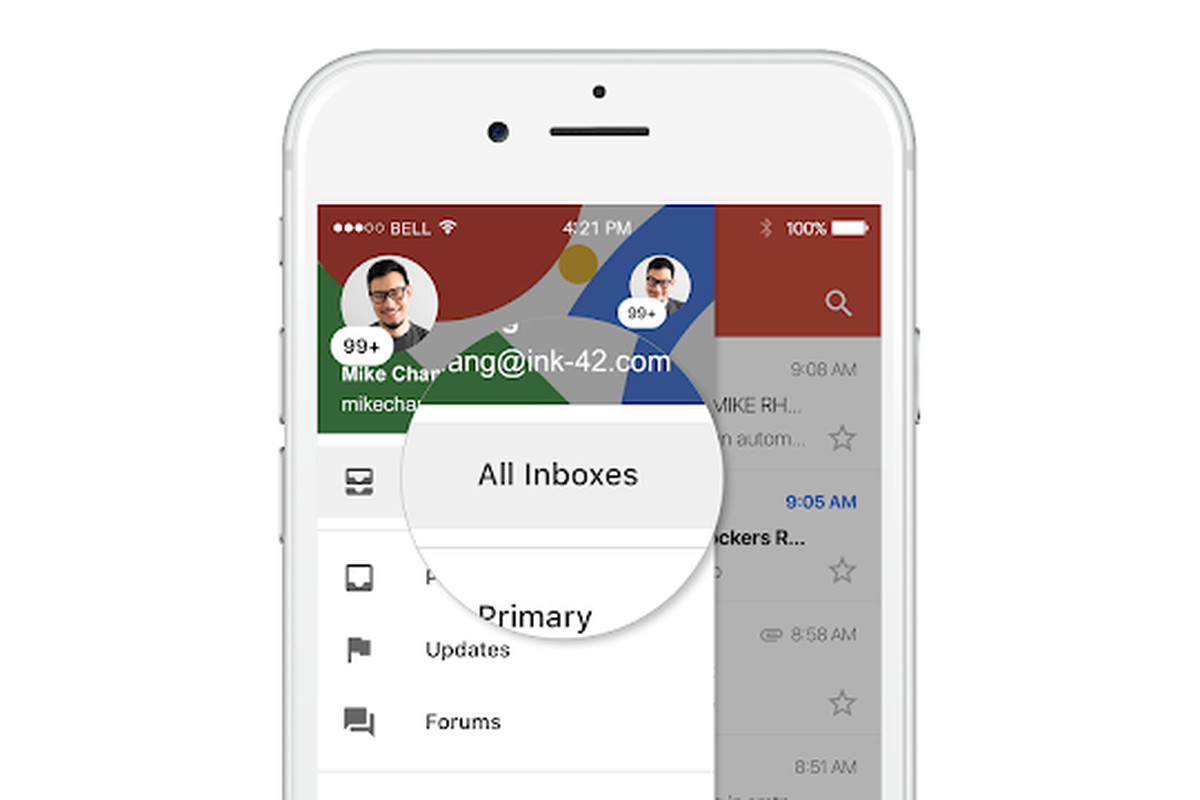 Access My Gmail Inbox gmail for ios now lets you view all of your accounts in a
