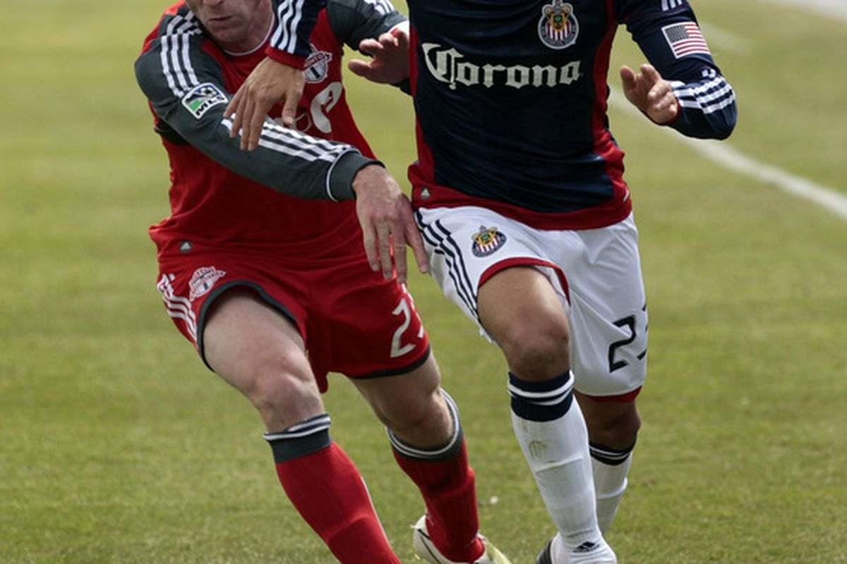 TORONTO, CANADA - APRIL 2: The top Chivas forward at the midpoint. (Photo by Abelimages/Getty Images)