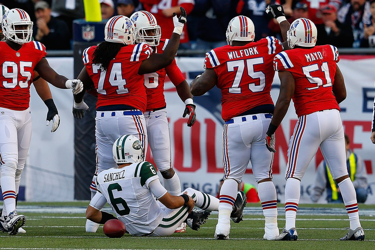Mark Sanchez after being sacked on Sunday.