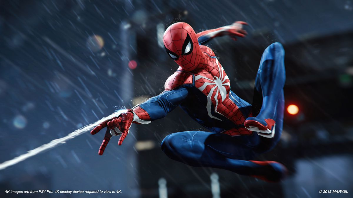 Spider-Man - Spidey airborne shooting a web