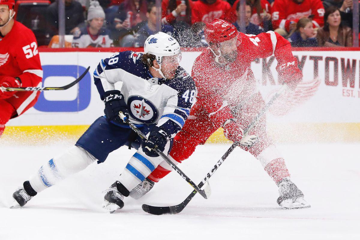 NHL: Winnipeg Jets at Detroit Red Wings