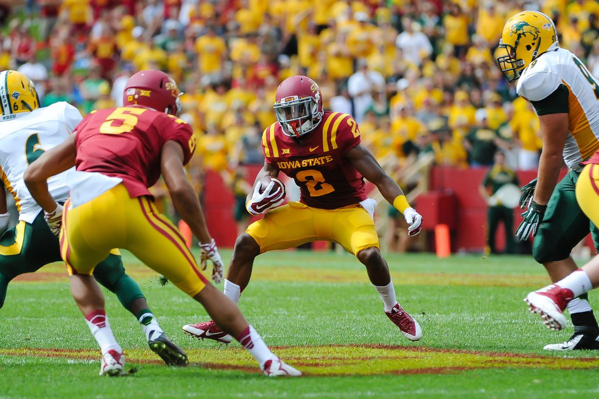 It seems Iowa State fans would like to see this fellow run more. I think he can wait until next week.