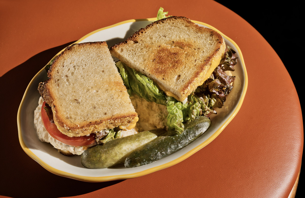 Tuna sandwich at Wise Sons Culver City.
