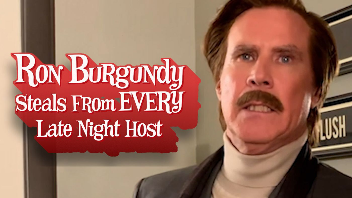 Ron Burgundy Steals from EVERY Late Night Show