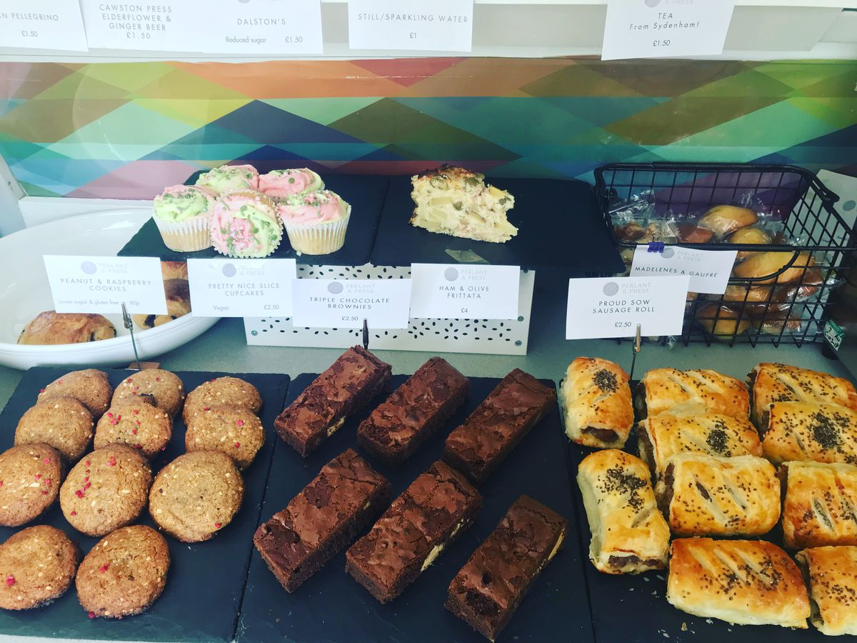 Catford's best restaurants: cakes and sausage rolls at Perlant and Press, Blythe Hill, south east London