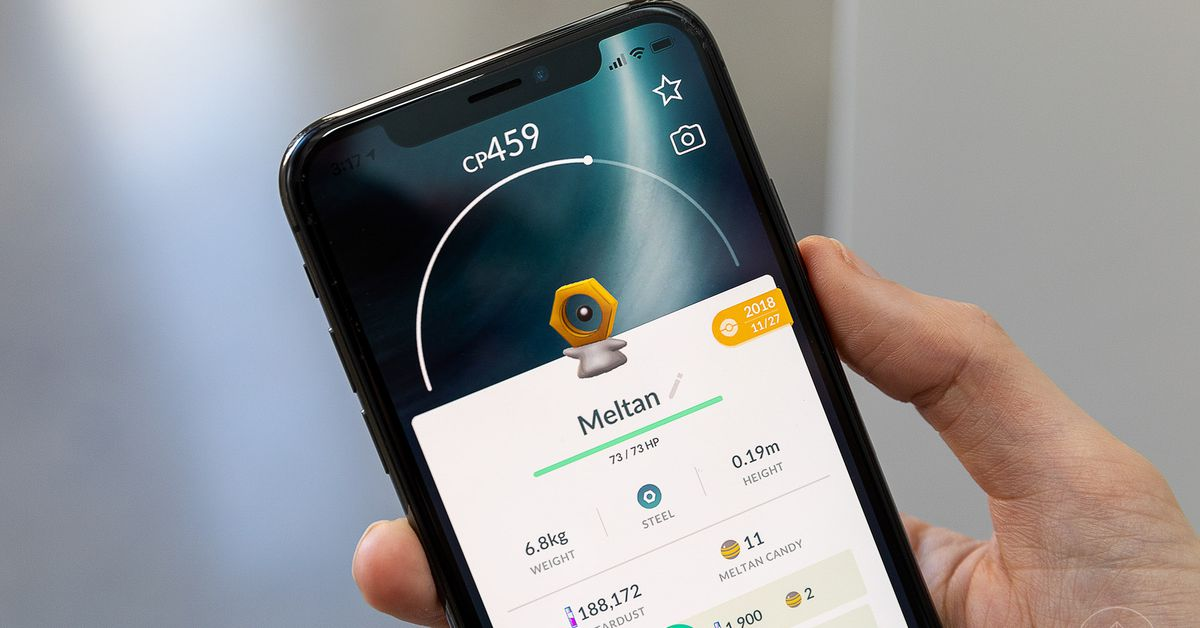 Pokémon Go is bringing back Shiny Meltan