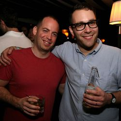 Publicist Jesse Gerstein and the man behind LA's The Gorbals, Ilan Hall.