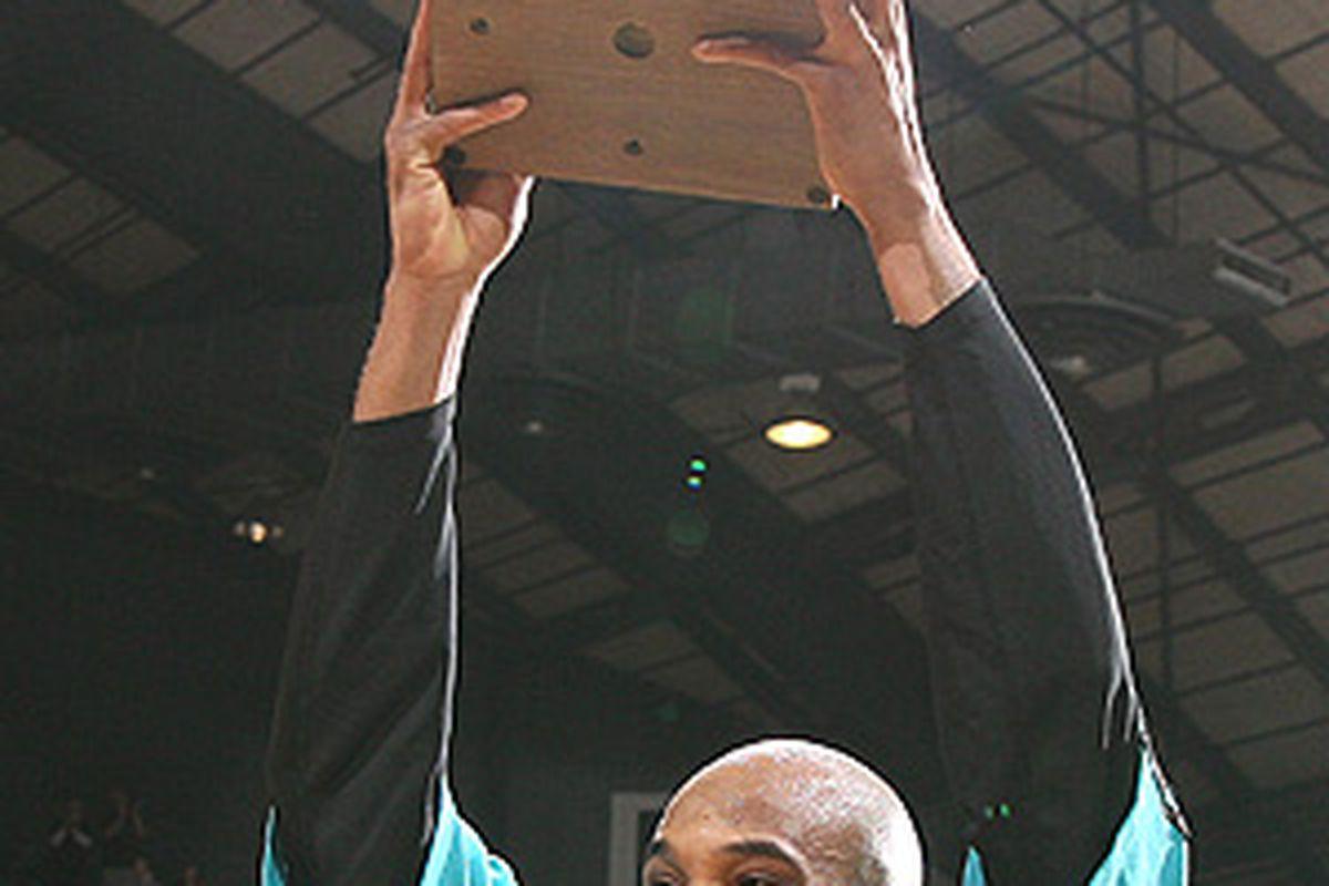 Kasib Powell, after winning the 2007-08 MVP Award.
