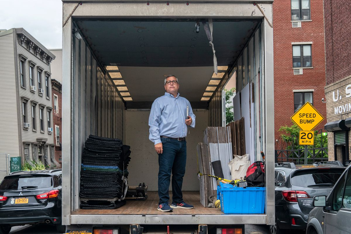 Dan Menchini, owner of Santini Moving & Storage, has seen a rise in people moving during the coronavirus outbreak, July 24, 2020.