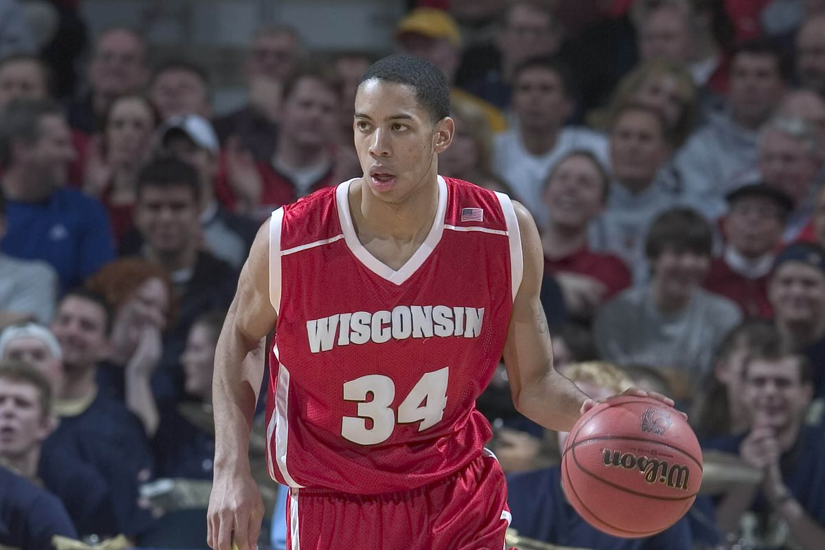21 March 2004: Devin Harris of the Wisconsin Badgers during the Badgers 59-55 loss to the Pittsburgh Panthers in the second round of the NCAA Tournament at the Bradley Center in Milwaukee, WI.