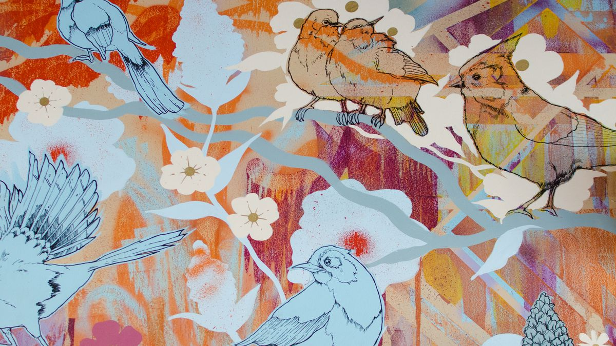 Part of a mural by Jason Vivona at Whaling in Oklahoma