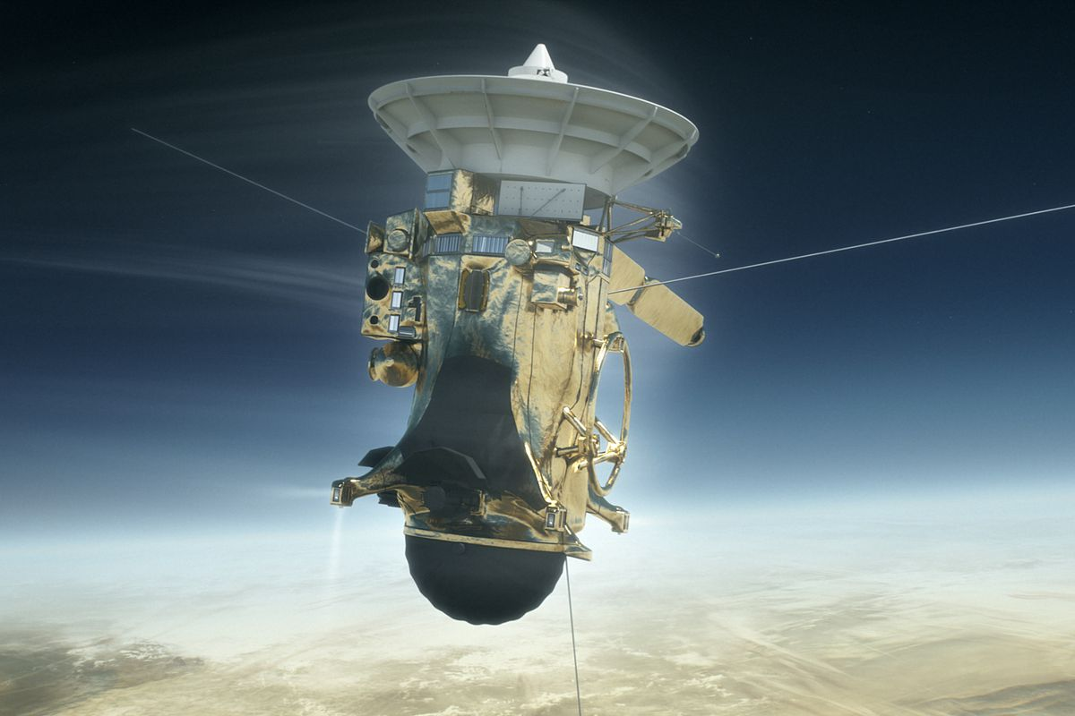 Cassini 'GoodBye Kiss' for Titan