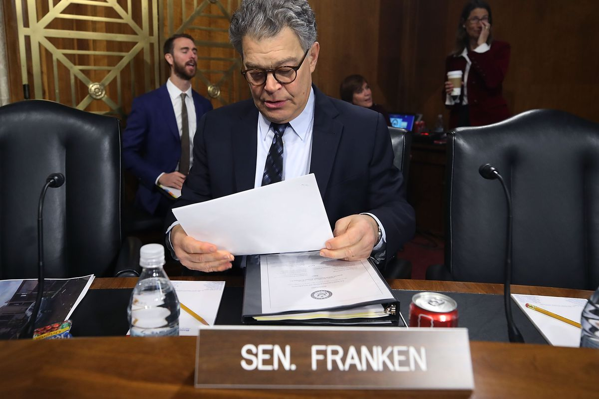Trump tweets against Al Franken: 'Where do his hands go?'