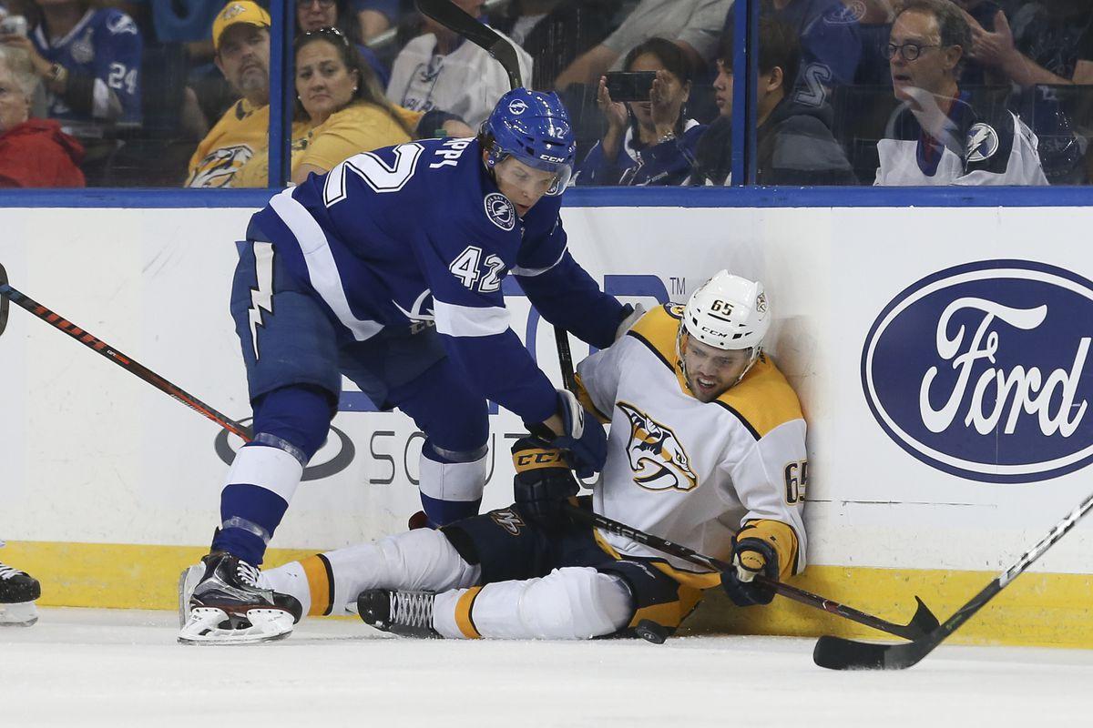NHL: SEP 22 Preseason - Predators at Lightning