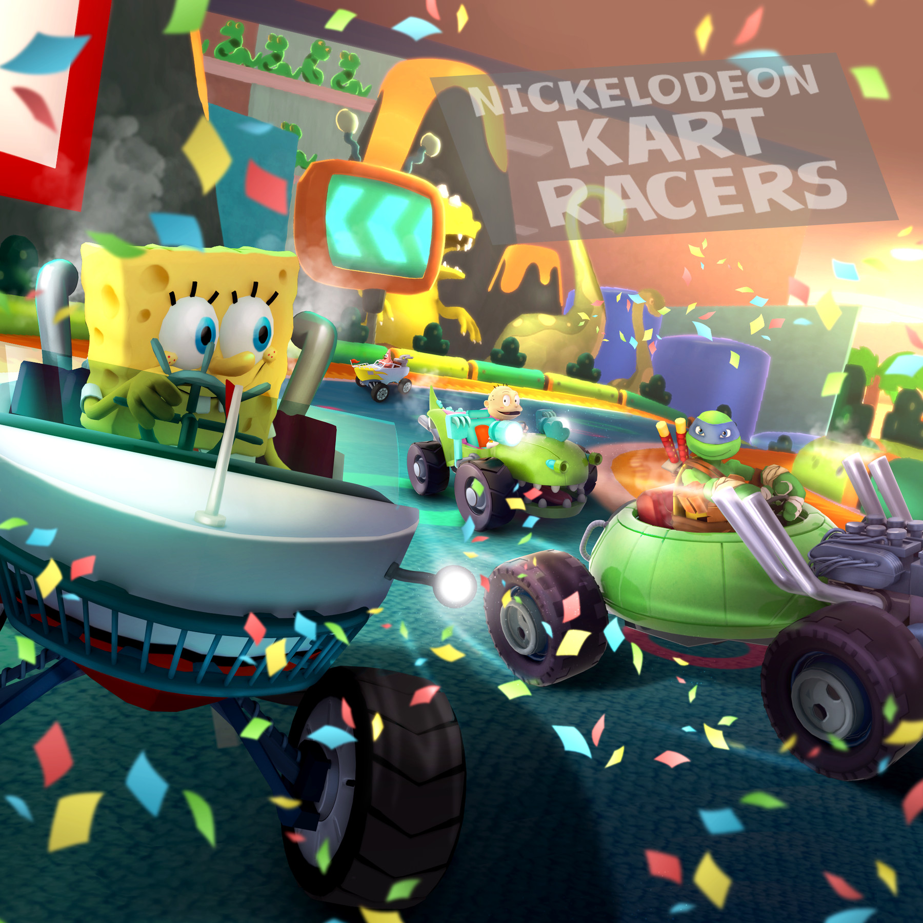Image result for nickelodeon kart racers