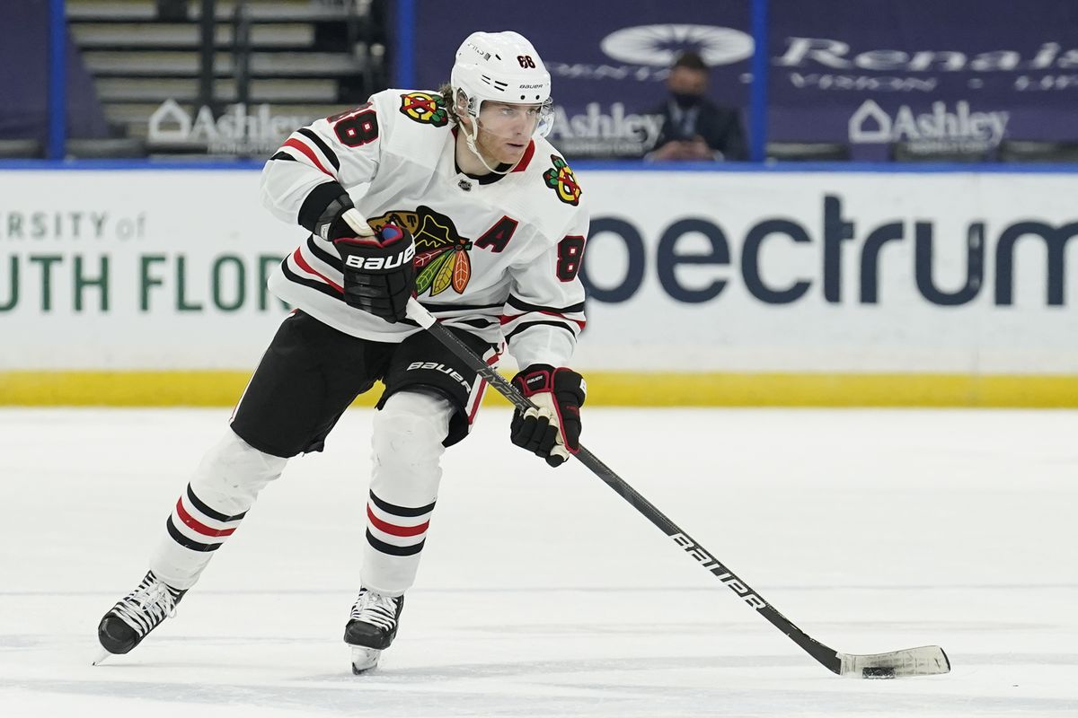 Patrick Kane's name has been floated in the Hart Trophy conversation.