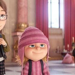 """Margo (Miranda Cosgrove), Edith (Dana Gaier) and Agnes (Nev Scharrel) in """"Despicable Me 3."""""""
