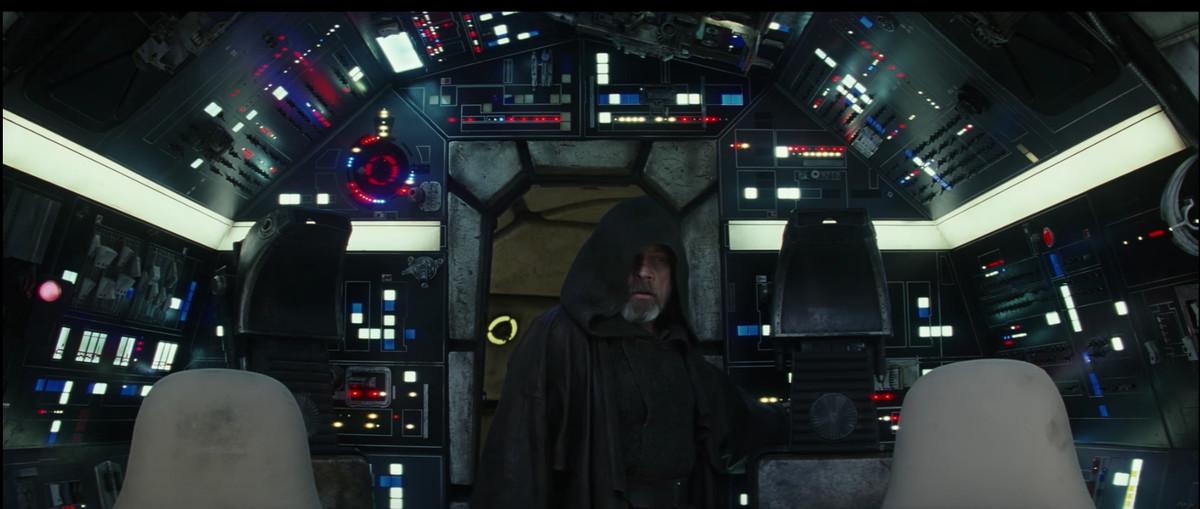 Luke Skywalker in the Millennium Falcon