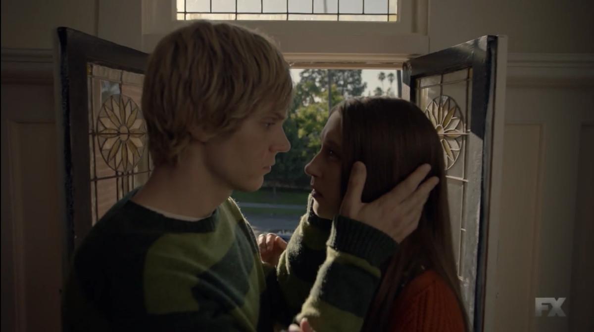 Evan Peters as Tate Langdon and Taissa Farminga as Violet Harmon