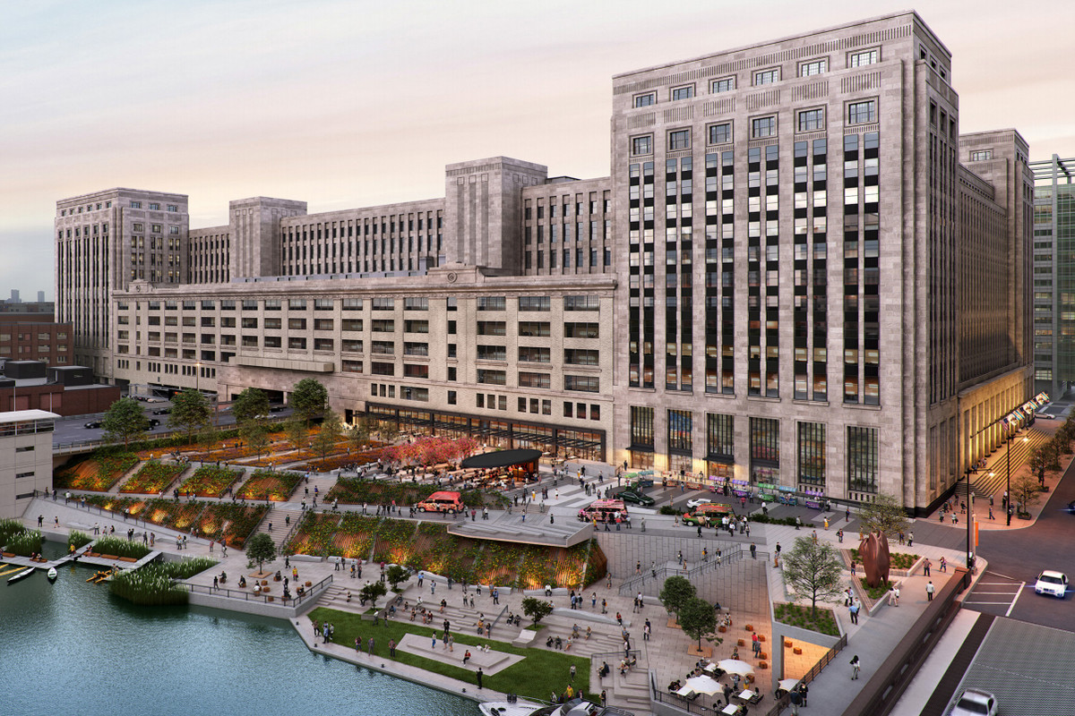 A Detailed Look At The Redevelopment Of The Old Chicago Post Office Curbed Chicago