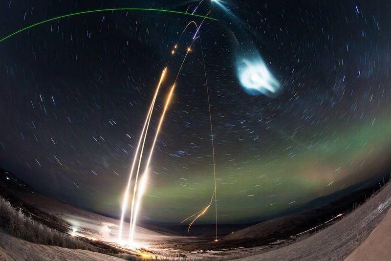 Photo of NASA Super Soaker cloud experiment