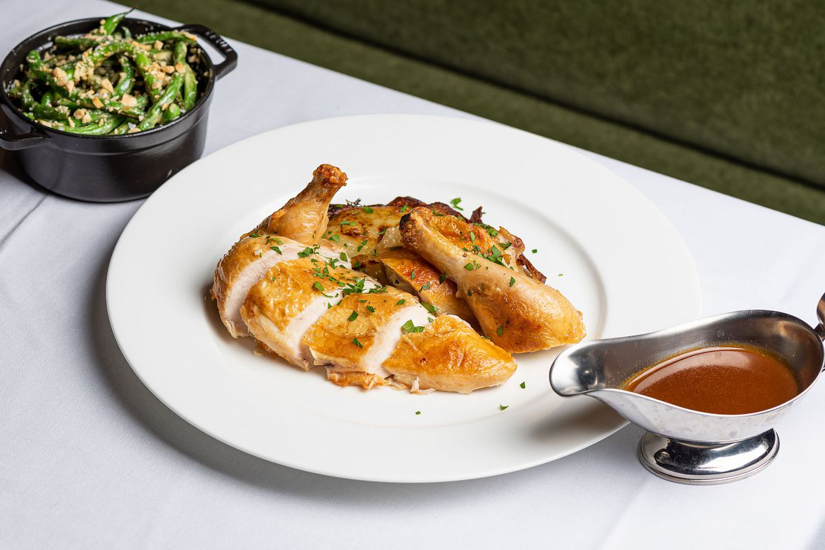 Roast chicken with jus