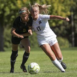 Action in the Northridge at Davis girls soccer game in Kaysville on Tuesday, Aug. 20, 2019.