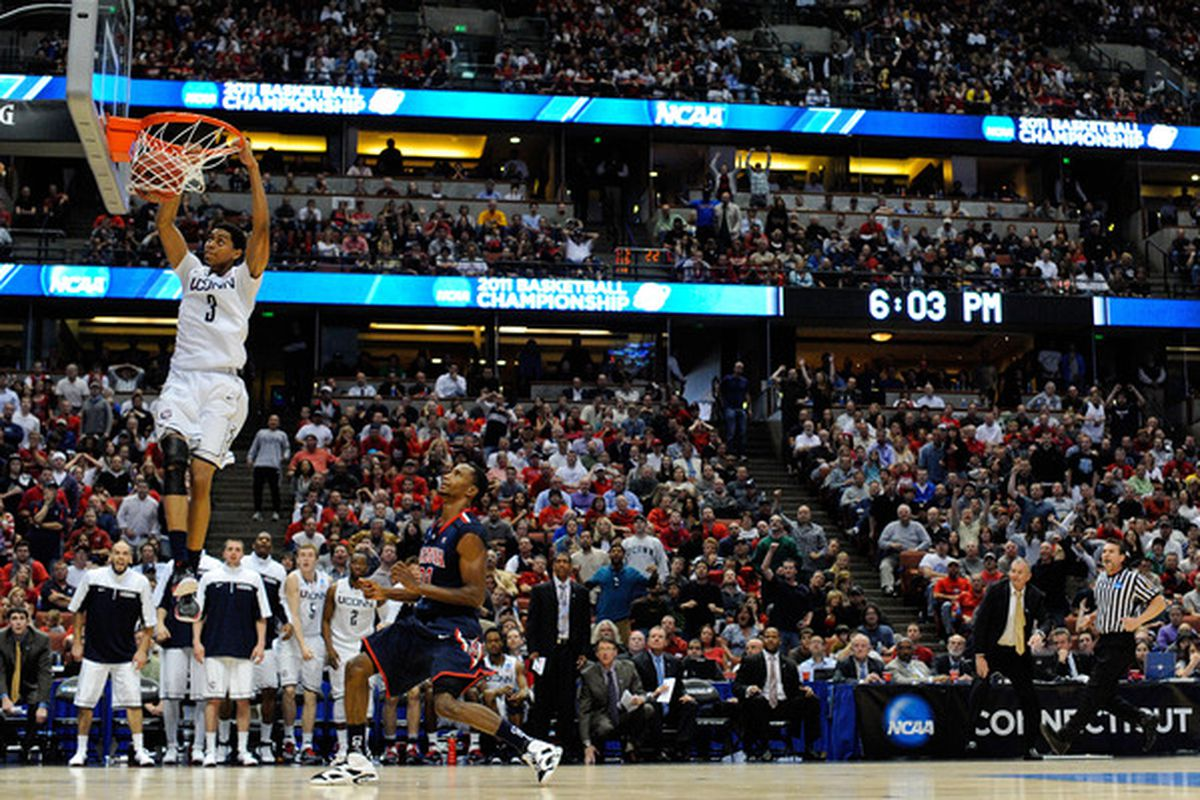 Jeremy Lamb and UConn will have another chance to dunk on Arizona next year. On an aircraft carrier.