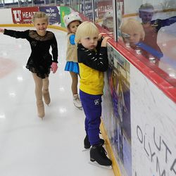 Young skaters practice at the Utah Olympic Oval in Kearns on Thursday, June 17, 2021.