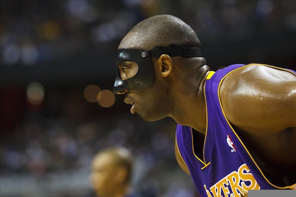 March 6, 2012; Auburn Hills, MI, USA; Los Angeles Lakers shooting guard Kobe Bryant (24) in the first quarter against the Detroit Pistons at The Palace. Mandatory Credit: Rick Osentoski-US PRESSWIRE