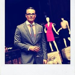 """Lonnie Rodriguez, who handles marketing and brand development for Genuine Entertainment Group, cites the Pink Panther as his pink-fashion inspiration. """"That works, right?"""""""