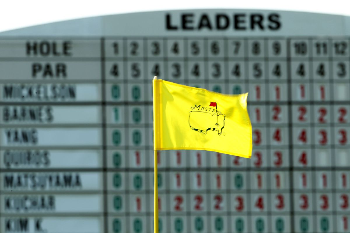 AUGUSTA, GA - APRIL 07:  A Masters flag waves during the first round of the 2011 Masters Tournament at Augusta National Golf Club on April 7, 2011 in Augusta, Georgia.  (Photo by Jamie Squire/Getty Images)