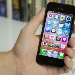 """<a href=""""http://www.theverge.com/2012/9/21/3363238/iphone-5-review"""">Apple iPhone 5</a>"""