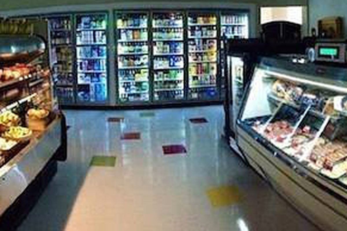 Hilltop's coolers fully stocked a day before opening.