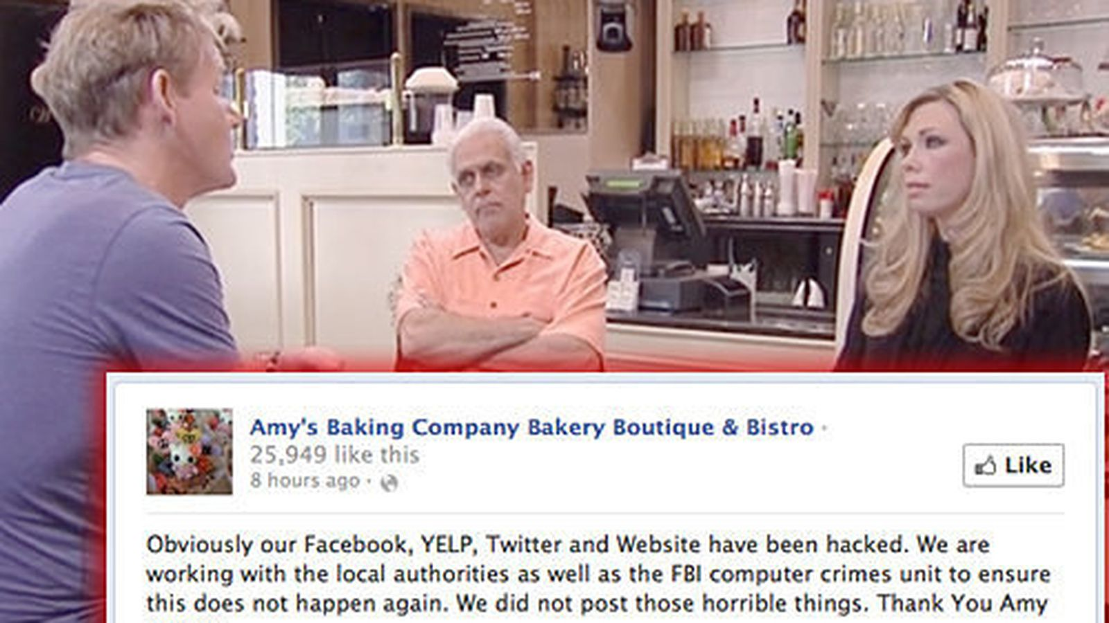 Amy S Restaurant Kitchen Nightmares kitchen nightmares restaurant claims they were hacked - eater