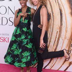 Samira Wiley in Milly with designer Michelle Smith