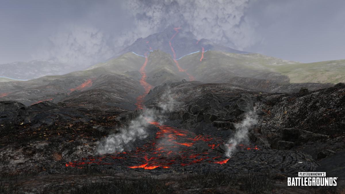 Le volcan de la carte Paramo de PUBG