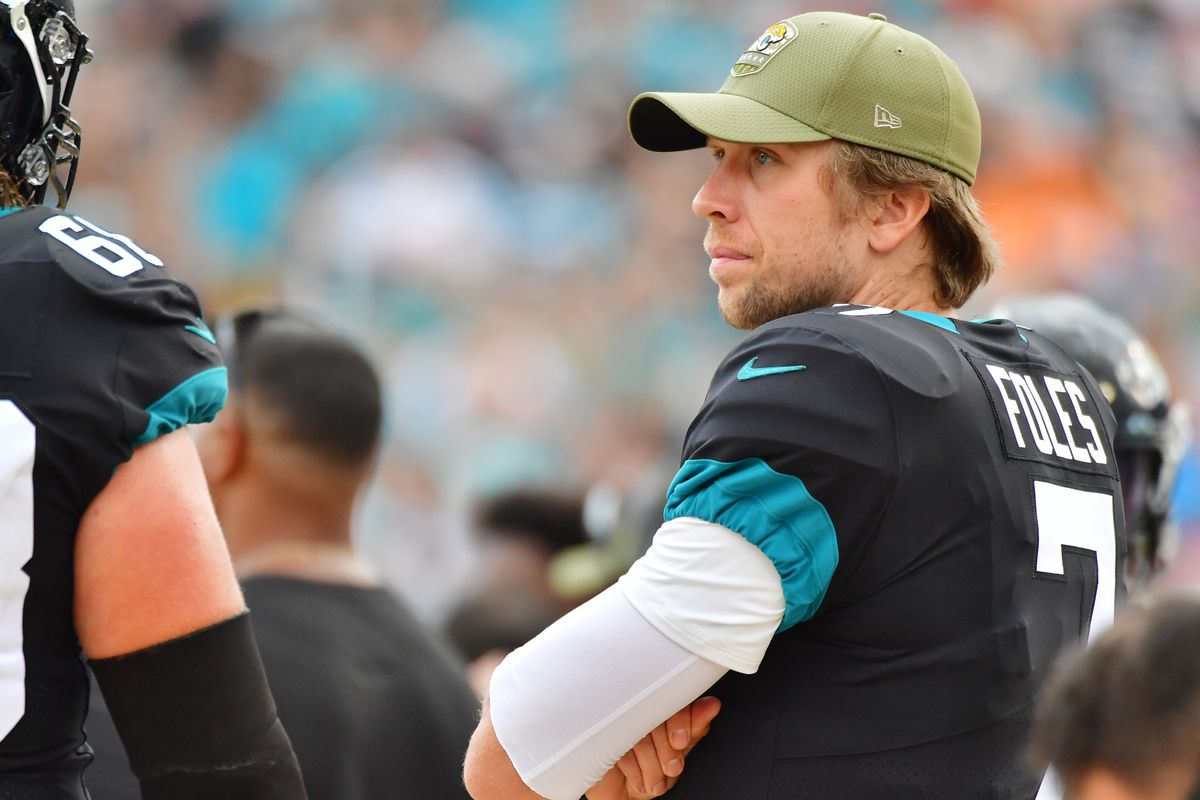 """The Bears say there will be an """"open competition'' between newcomer Nick Foles (above) and Mitch Trubisky for their starting quarterback job."""