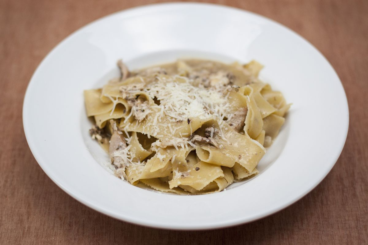Pappardelle with with rabbit ragu and Marsala livers; the headline trader, with Nanban Central by MasterChef winner Tim Anderson, at the new Kerb Seven Dials Market