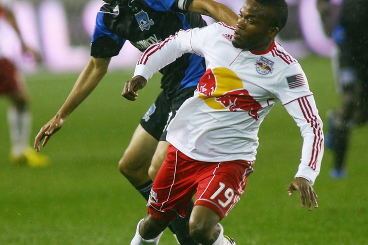 Ramiro Corrales and Dane Richards will again battle on the left touchline when the Earthquakes face the Red Bulls on Saturday.