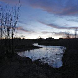 Fuller Bottom sunset in the San Rafael Swell  Friday, April 1, 2011, in the San Rafael Swell in Central Utah.