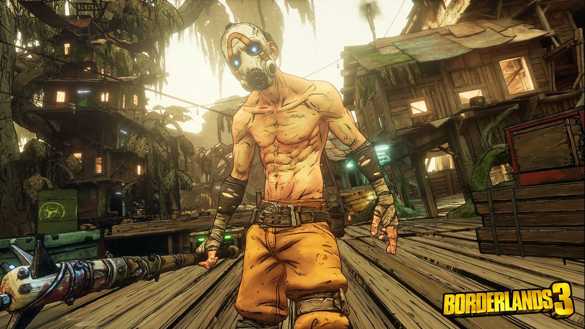 """A """"psycho"""" with a spiked bat in Borderlands 3"""