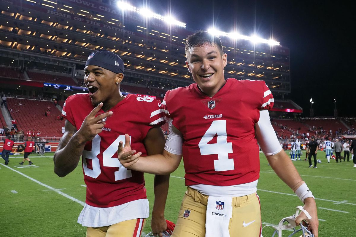 best authentic 1be97 32020 49ers vs. Cowboys preseason 2018: Nick Mullens is your KSWOF ...