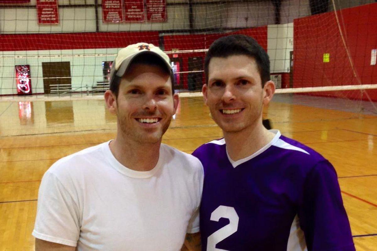 Thain, left, and Clay Allen.