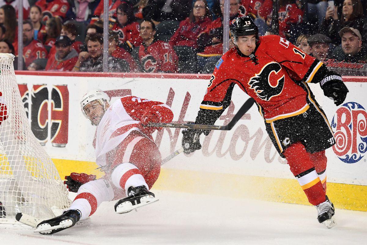 NHL: Detroit Red Wings at Calgary Flames