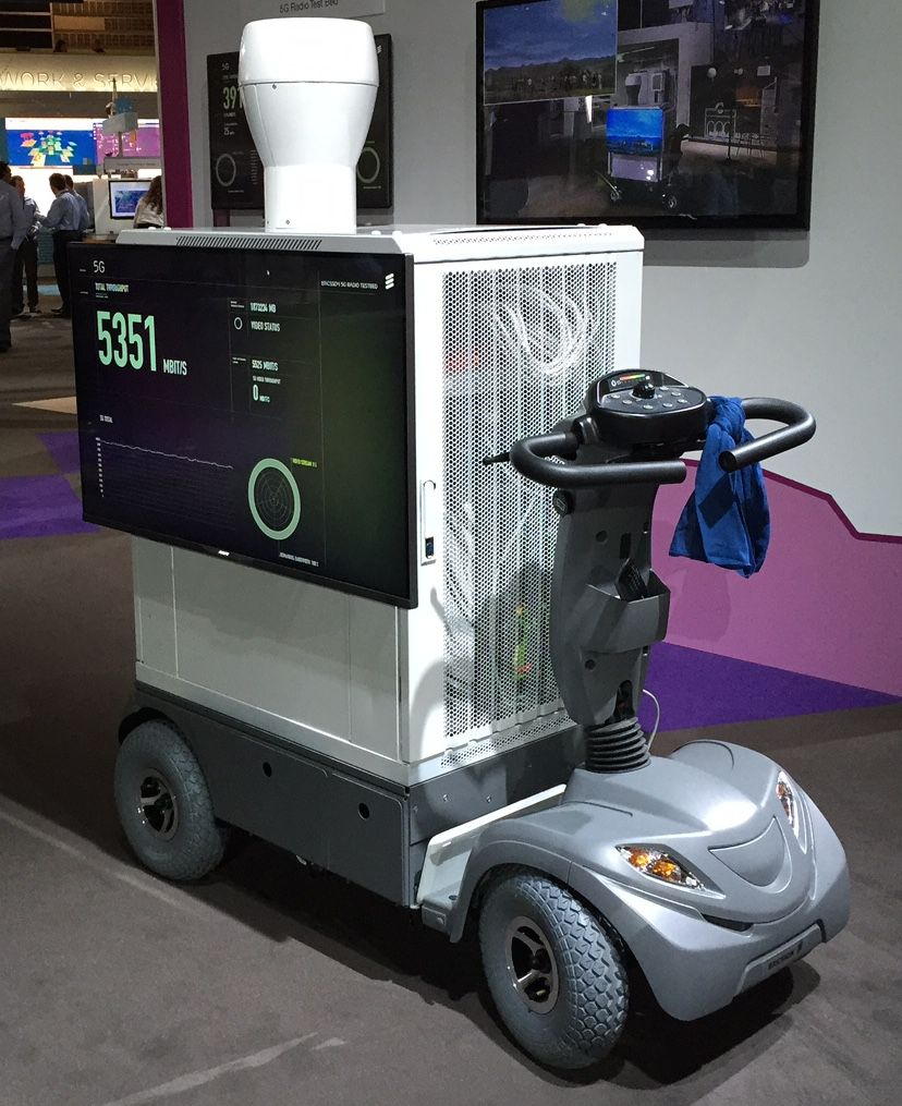 """Ericsson showed off this """"handset"""" at Mobile World Congress to show the kind of speeds 5G will deliver. Clearly some work is needed to get it to fit in a pocket."""